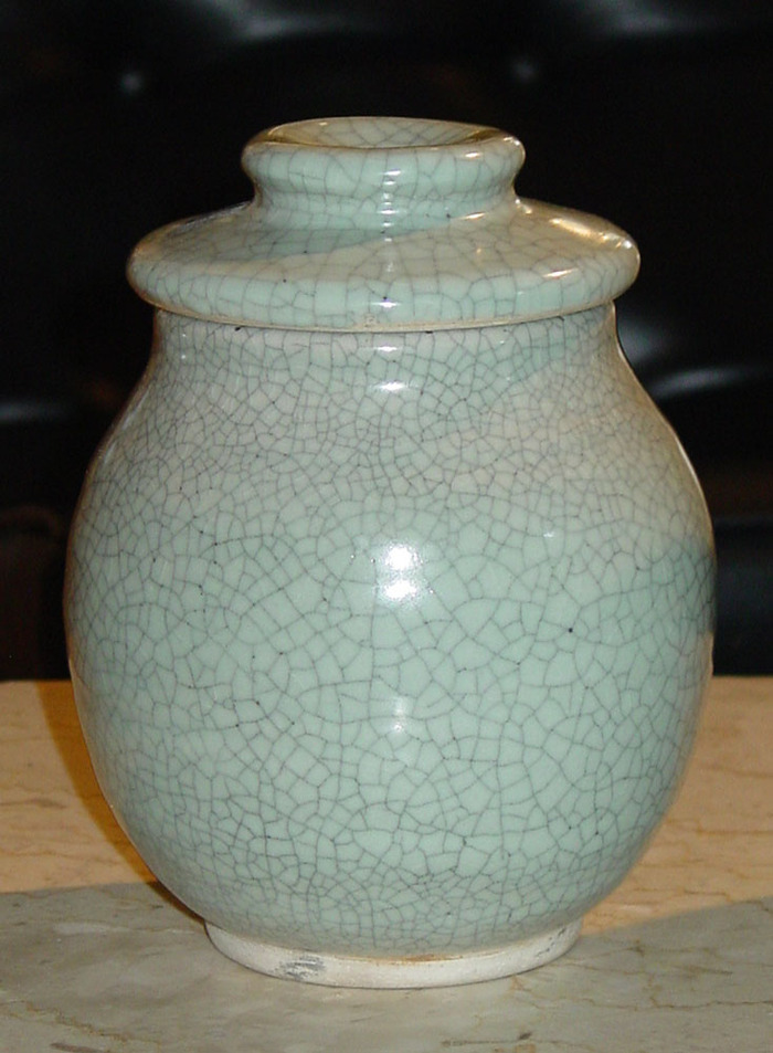 Crackle Ginger Jar