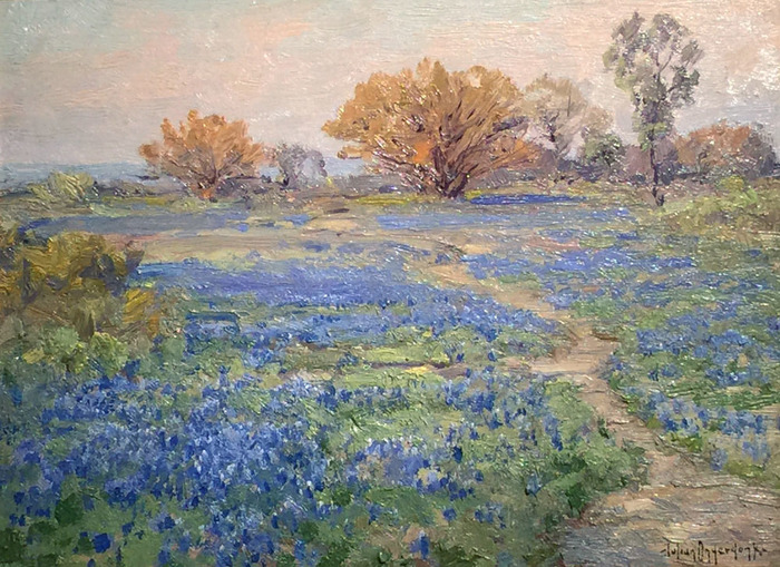 """Huisache and Bluebonnets San Antonio 1919"""
