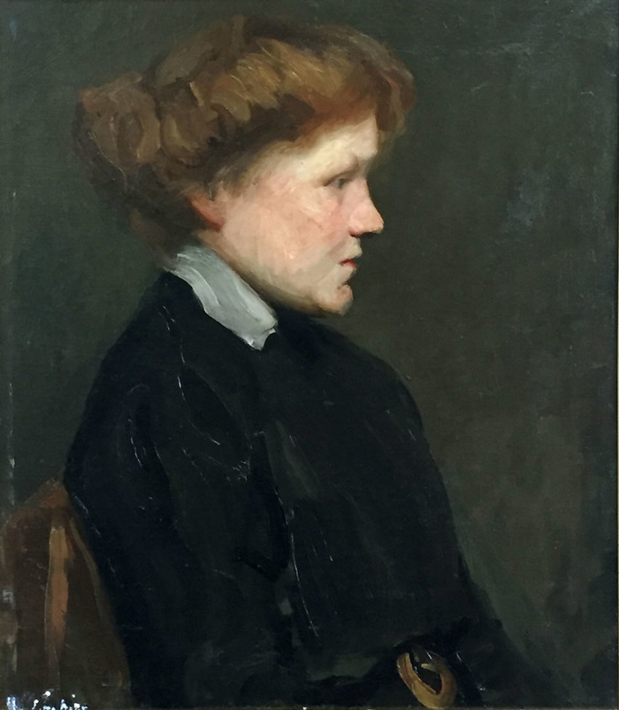 Portrait Lady in Black Dress