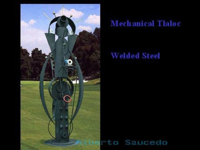 """Mechanical Tlaloc""          10 feet tall"