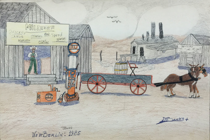 """Milender Grocery New Berlin, Texas"""