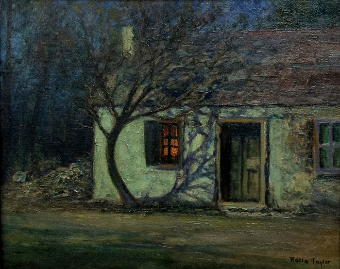"""Nocturnal Ranch House Scene"""