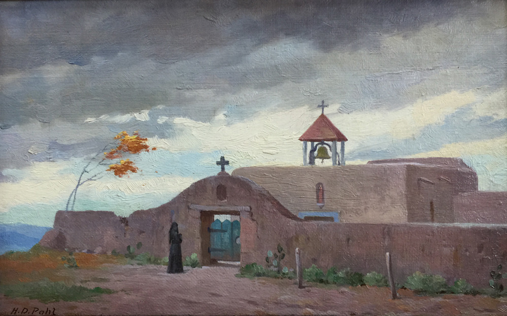 Hugo Pohl Quot A Mexican Church Quot In New Mexico 1387