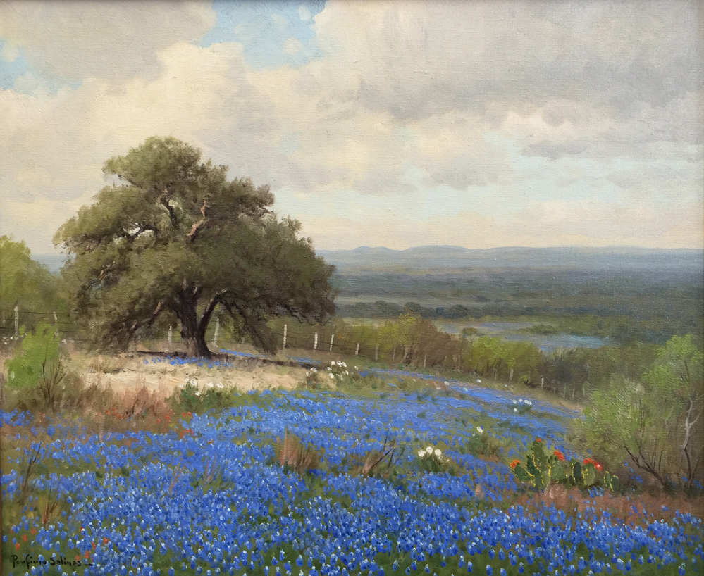 Porfirio Salinas Quot Bluebonnet Ranch Quot 1388 Texas Art
