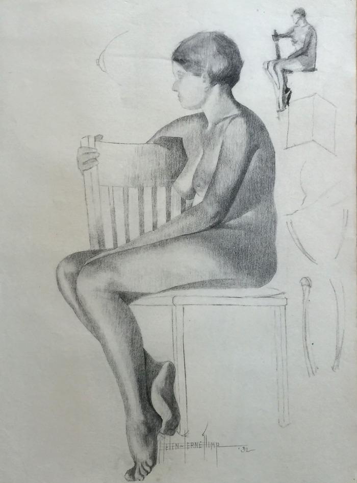 """Seated""  Nude"