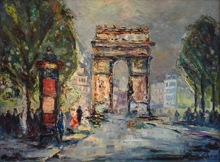 """Paris 1966""  Arc de Triomphe Paris France"
