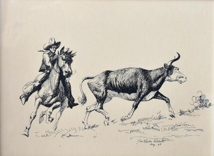 """""""Cowboy Roping Steer"""""""
