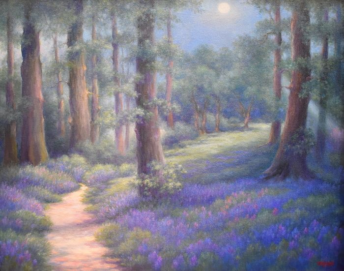 """Bluebell Woods Evening"" ""The Blue Hour"""