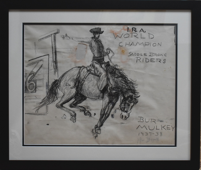 """I.R.A. WORLD CHAMPION SADDLE BRONC RIDERS"" RODEO"