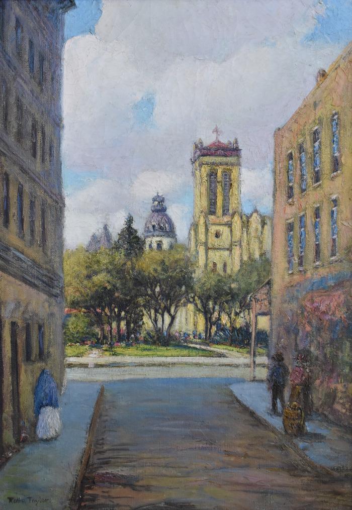 """""""Street to San Fernando Cathedral"""" San Antonio Texas"""