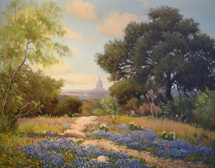 """Texas Capitol in Blue"" Bluebonnet"