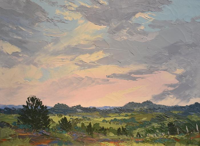 """""""Pink Cedar Sunset"""" Texas Hill Country"""
