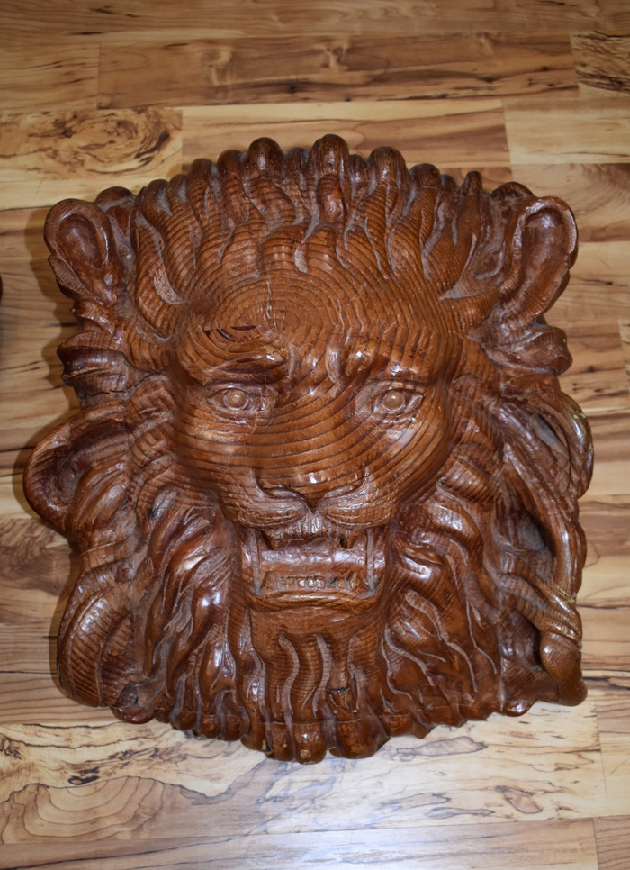 Lion Head Sculptures
