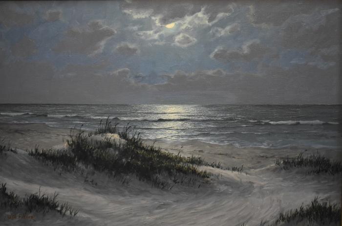 """""""Moonlit Texas Seascape"""""""