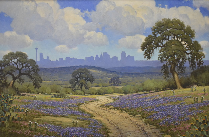 """San Antonio Skyline in Bluebonnets"""