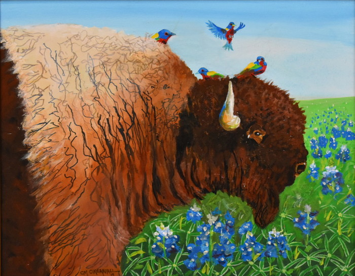 """Buntings and Bluebonnets"" Buffalo"