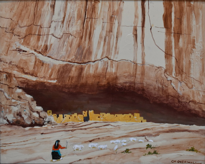 """Canyon De Chelly""  Sheep Herder"