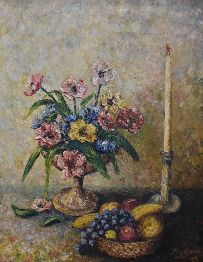 """Still Life with Flowers and Fruit Bowl, 1939"""
