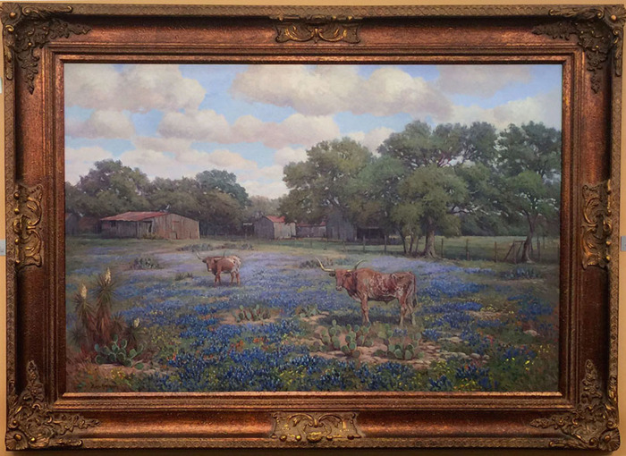 """Kendall County Ranch""  Longhorn Bluebonnet"