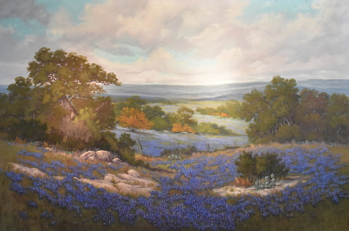"""Bluebonnets"" Texas Hill Country Painting"