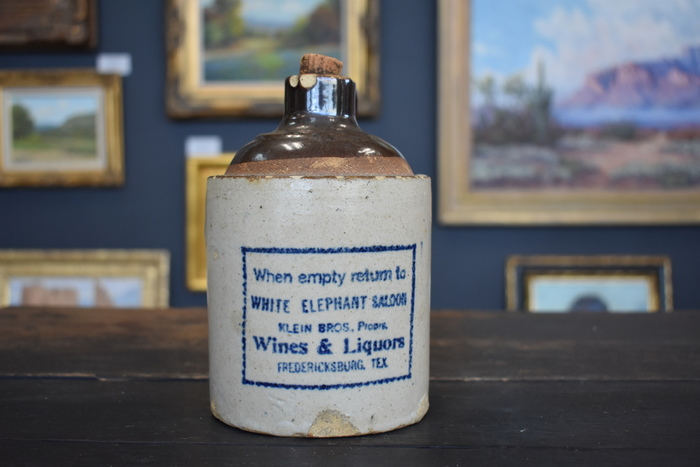 White Elephant Saloon Jug Fredericksburg Texas