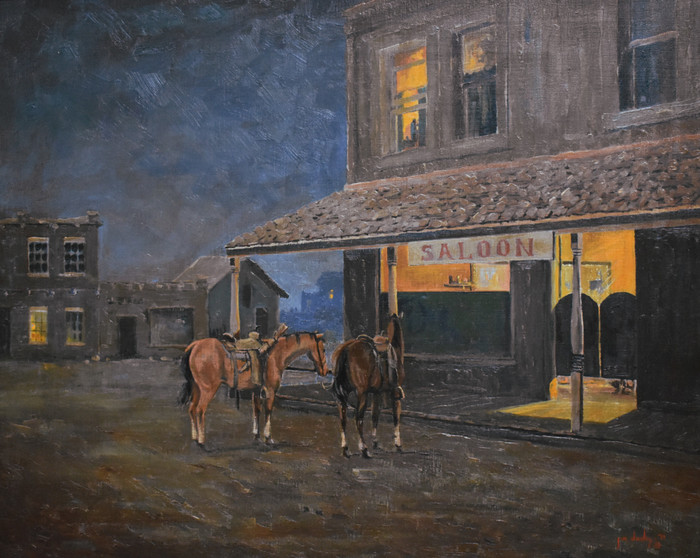 """Late Night at the Saloon""  Texas"