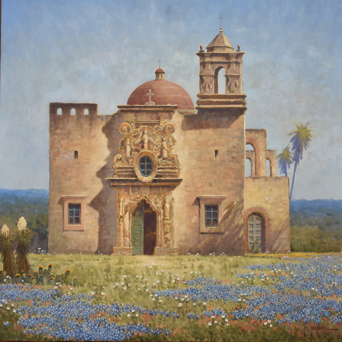 """Mission San Jose in Bluebonnets"""