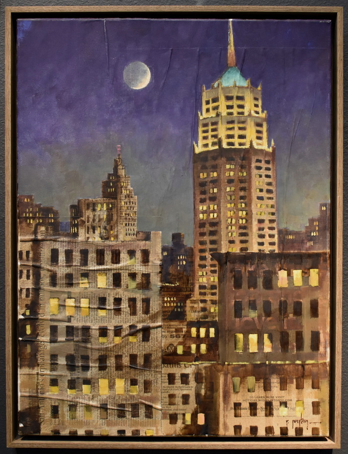 """""""The Tower Life Building"""" Study on Newsprint for Larger Piece"""