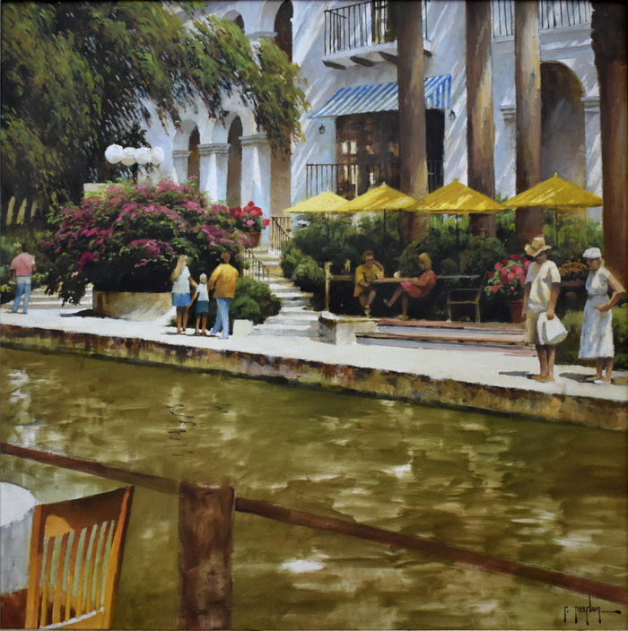 """Yellow Umbrellas of the River Walk"""