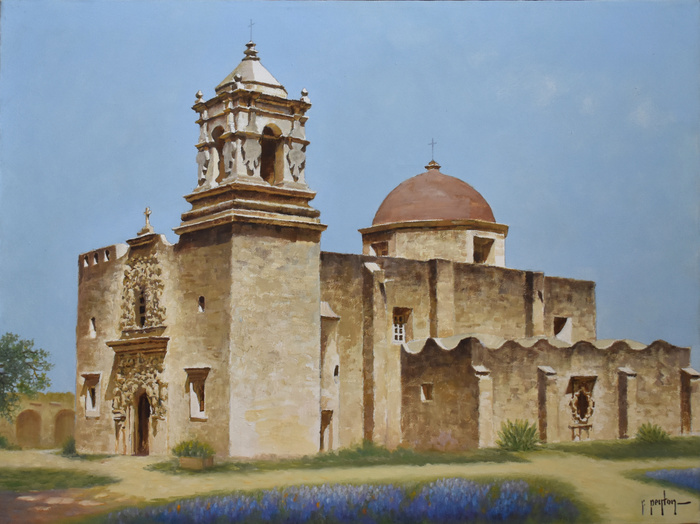 """San Jose in Blue""  Mission San Jose San Antonio"