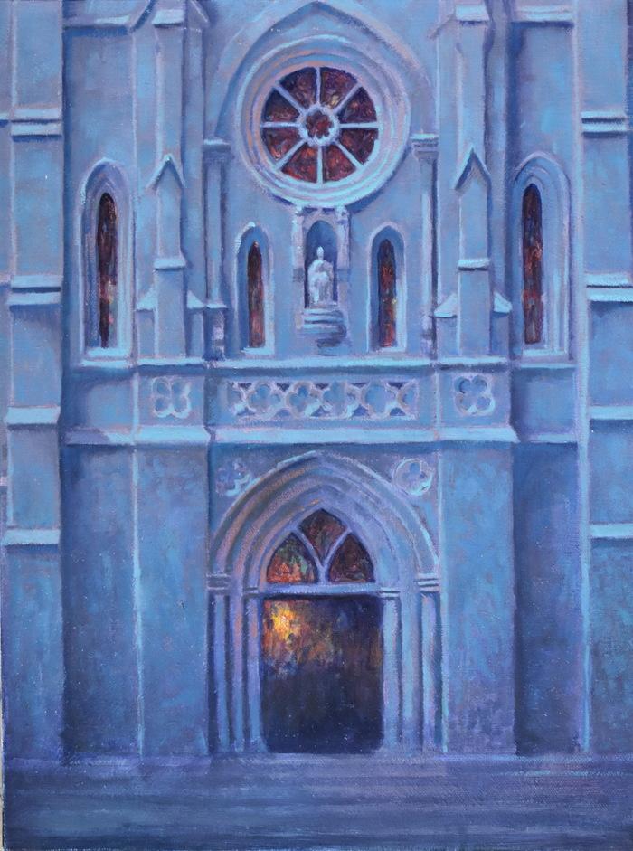 """"""" San Fernando Cathedral Moonlight"""""""