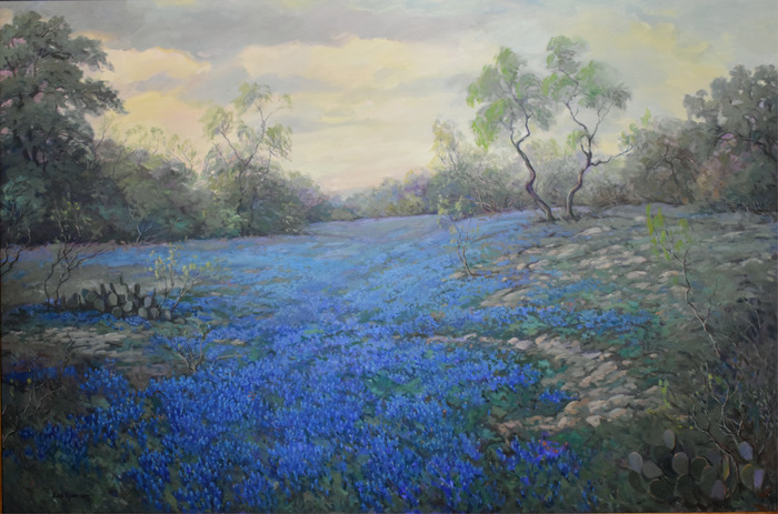"""Bluebonnets in Evening Light"""