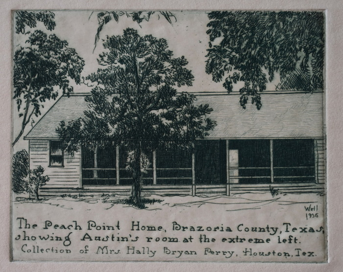 """The Peach Point Home"" Brazoria County Texas. Stephen F. Austins Home."