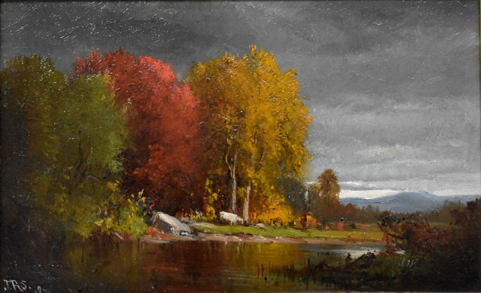 """Hudson River Landscape in Autumn"""