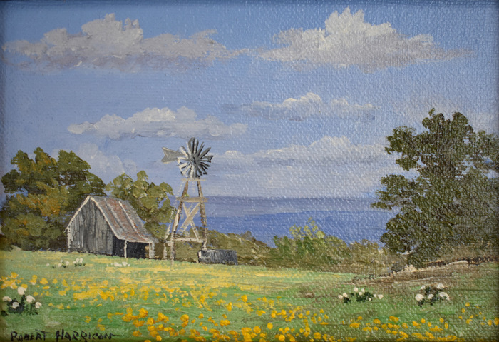 """Windmill and Barn"""