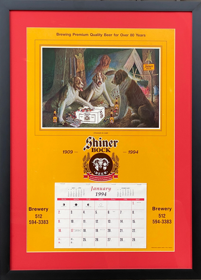 """Shiner Beer Calendar"" Original"