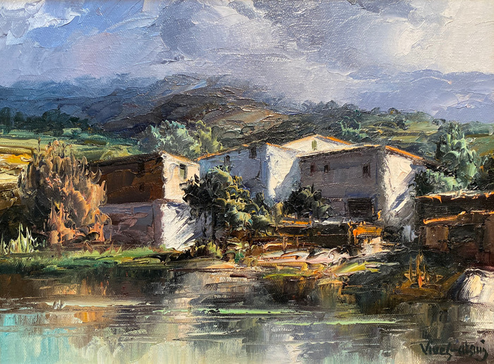 """Houses on the Creek""  Catalonia Spain"