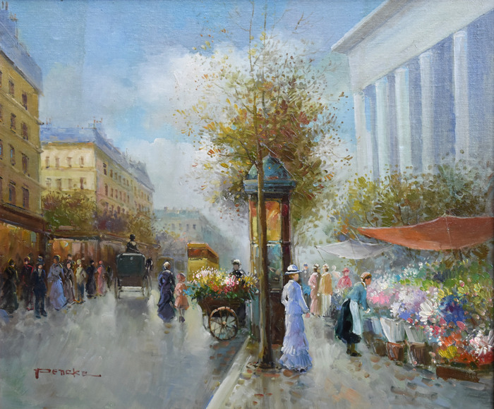 """French Street Scene"""