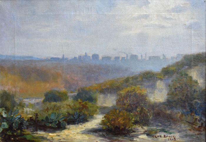 """View of San Antonio from a Distance"""