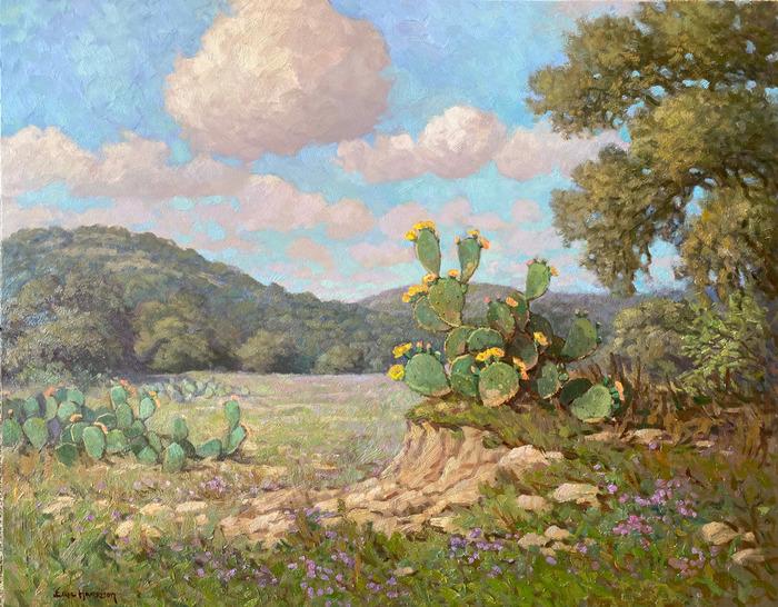 """""""Cactus Blooms and Verbena"""""""