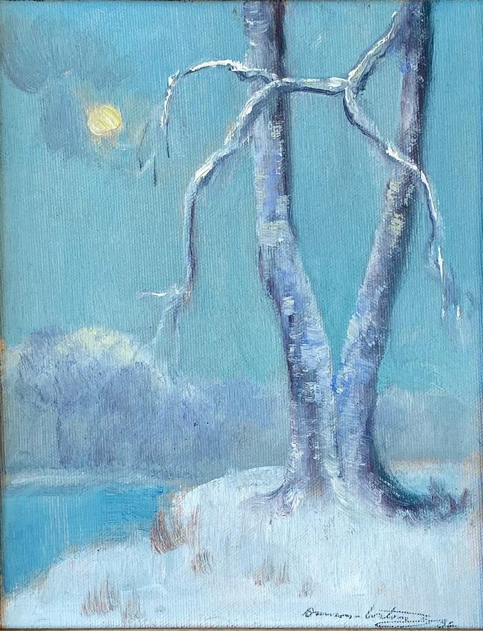 """""""Moonglow Snow"""" Snow Scene"""