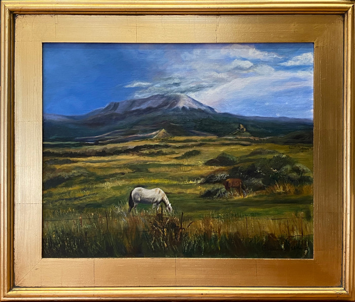 """""""Table For Two""""  Horses grazing"""