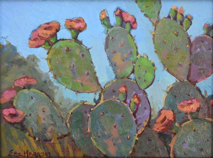 """""""Cactus and Red Blooms"""""""