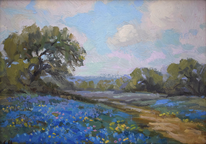 """""""Bluebonnets and Caliche Road"""""""
