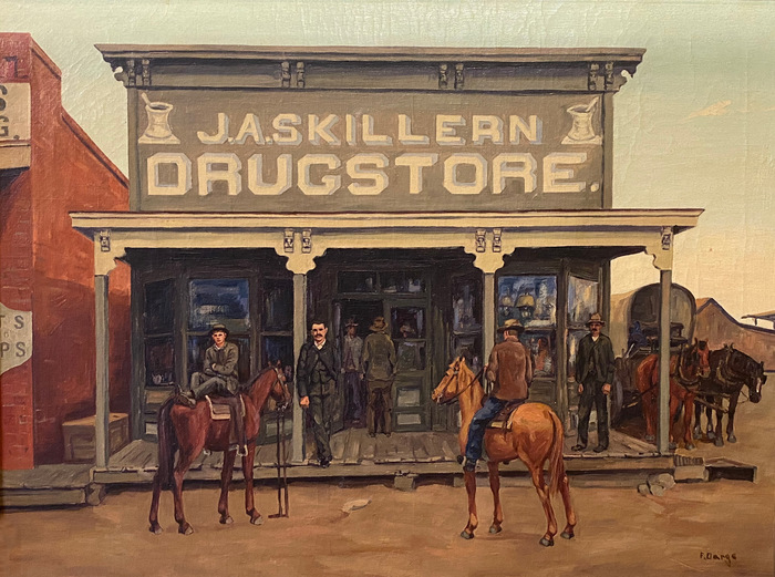 """""""The First Skillern's Store 1885""""  Lewisville Texas"""