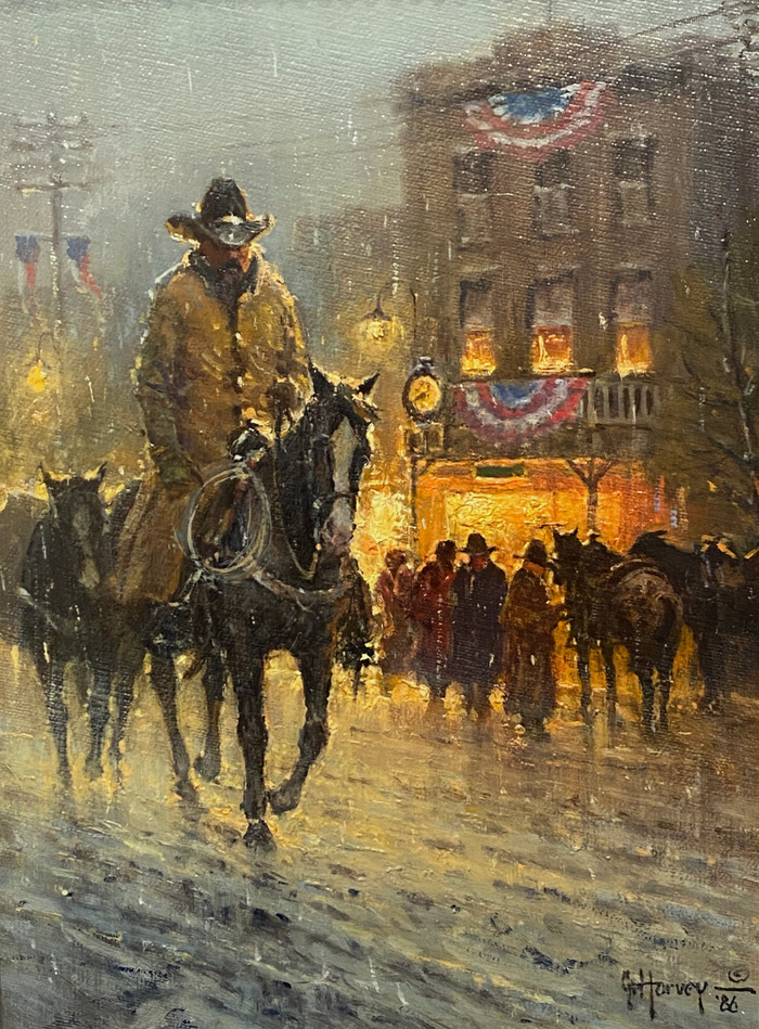 """""""Coming To Town"""" Western Street Scene"""