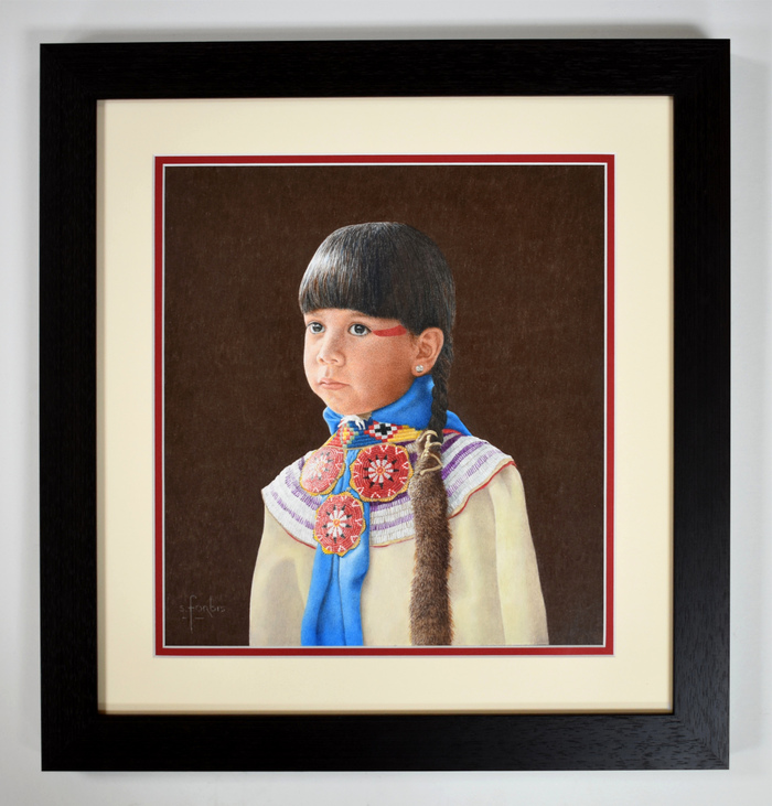 """""""Tranquility"""" Young Native American Girl"""