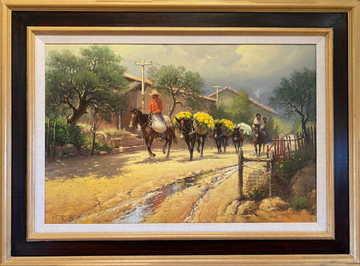 """""""FLOWERS TO MARKET"""" (IXTAPAN MEXICO) Dated 1983"""