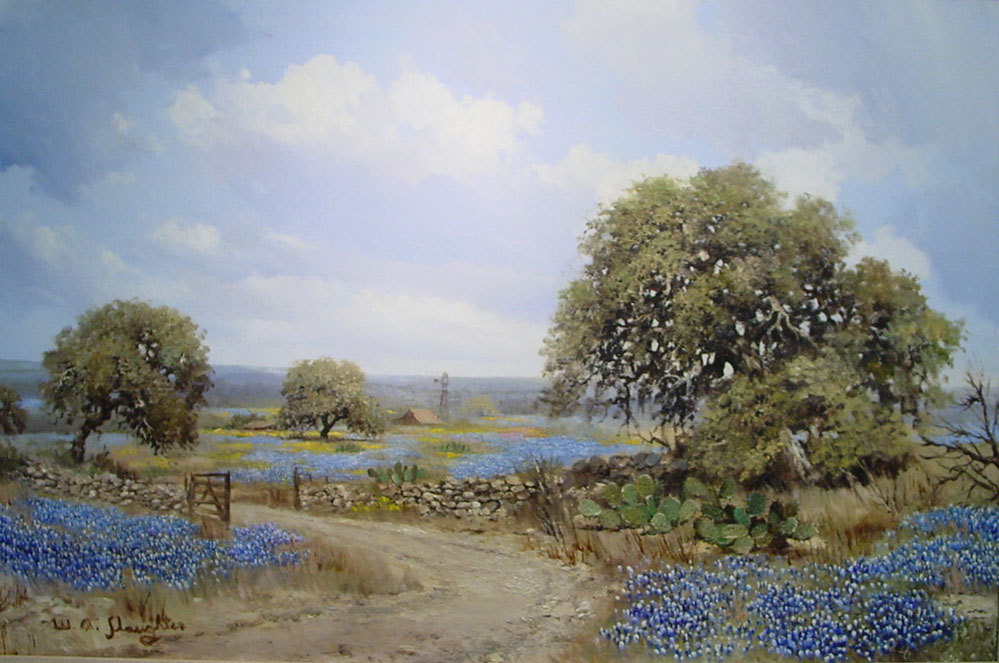 W A Slaughter Quot Bluebonnet Ranch Quot 474 Texas Art