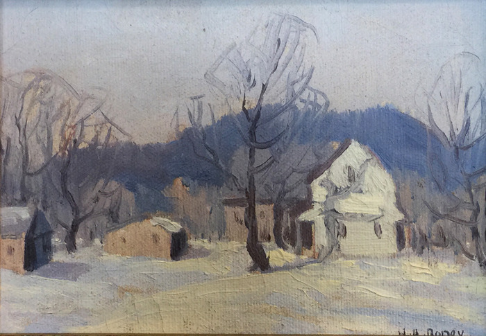 """Farmhouse in Winter"""